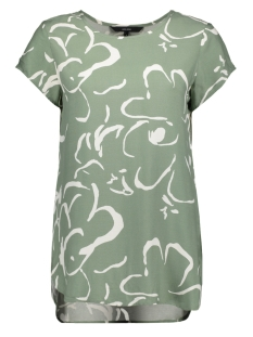 Vero Moda T-shirt VMBOCA SS BLOUSE MULTI AOP 10132802 Hedge Green/ILONA COLL