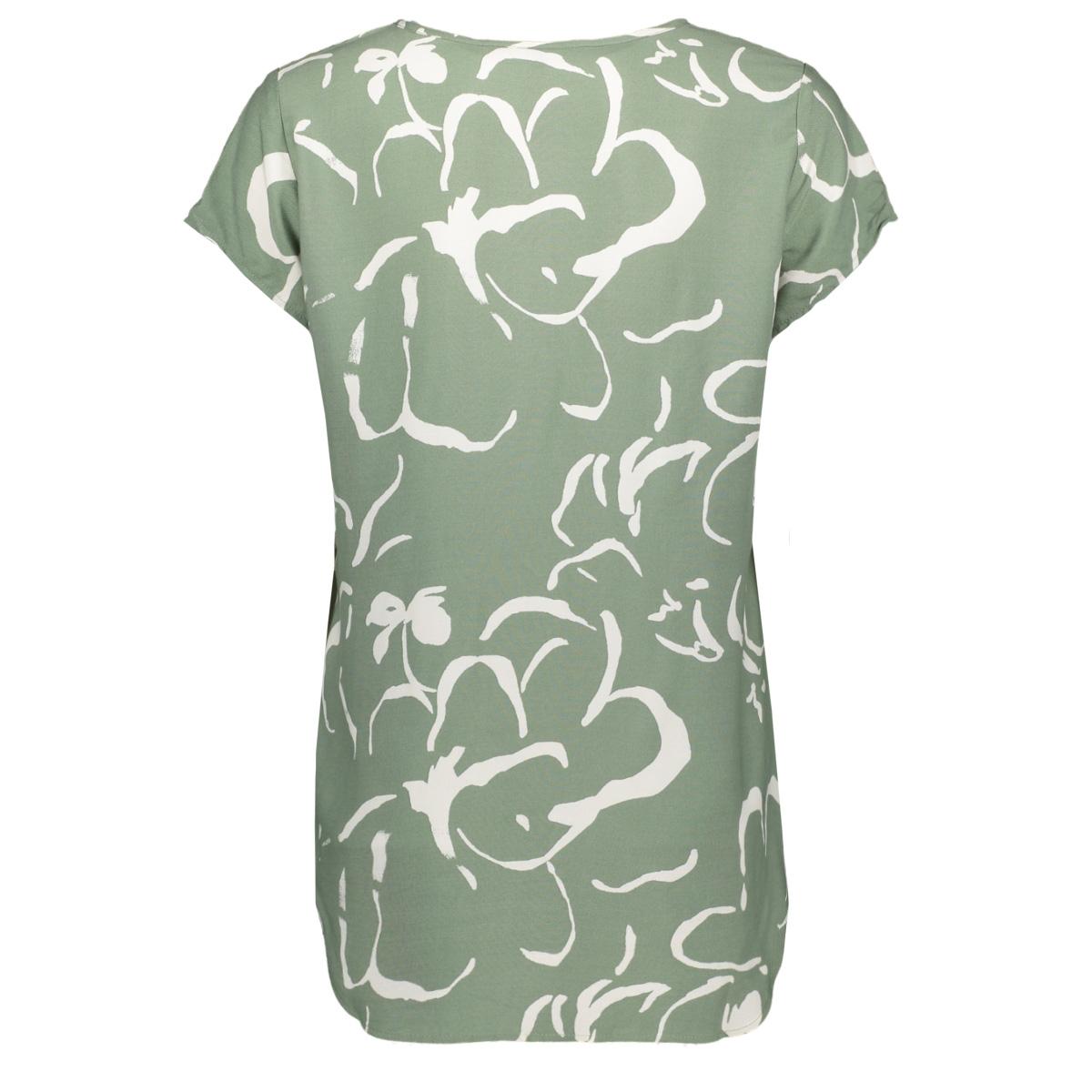 vmboca ss blouse multi aop 10132802 vero moda t-shirt hedge green/ilona coll