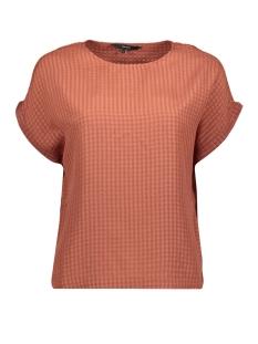 Vero Moda T-shirt VMBEATE S/S TOP WVN 10217677 Mahogany