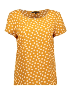 Vero Moda T-shirt VMSASHA SS TOP AOP 10221860 Sudan Brown/DOT