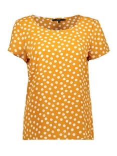 vmsasha ss top aop 10221860 vero moda t-shirt sudan brown/dot