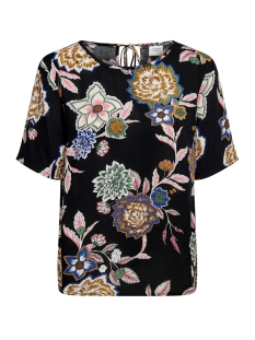 Jacqueline de Yong T-shirt JDYMARLI S/S STRING TOP WVN 15181118 Black/MULTICOLOR