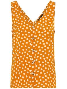 vmsasha s/l button top aop 10224677 vero moda top sudan brown/dot