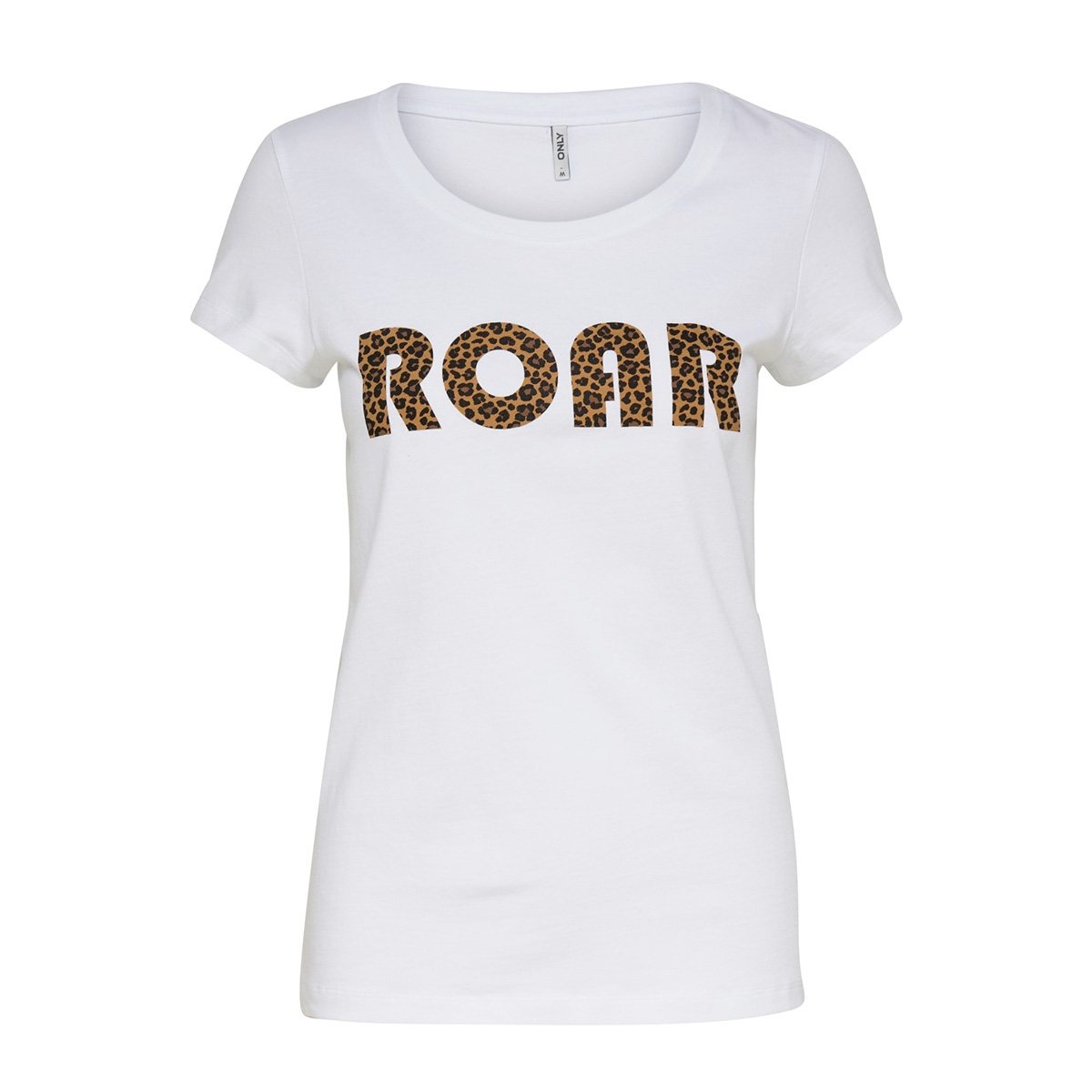onlroar s/s top jrs 15184236 only t-shirt bright white/leo