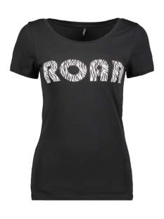 Only T-shirt ONLROAR S/S TOP JRS 15184236 Black/ZEBRA