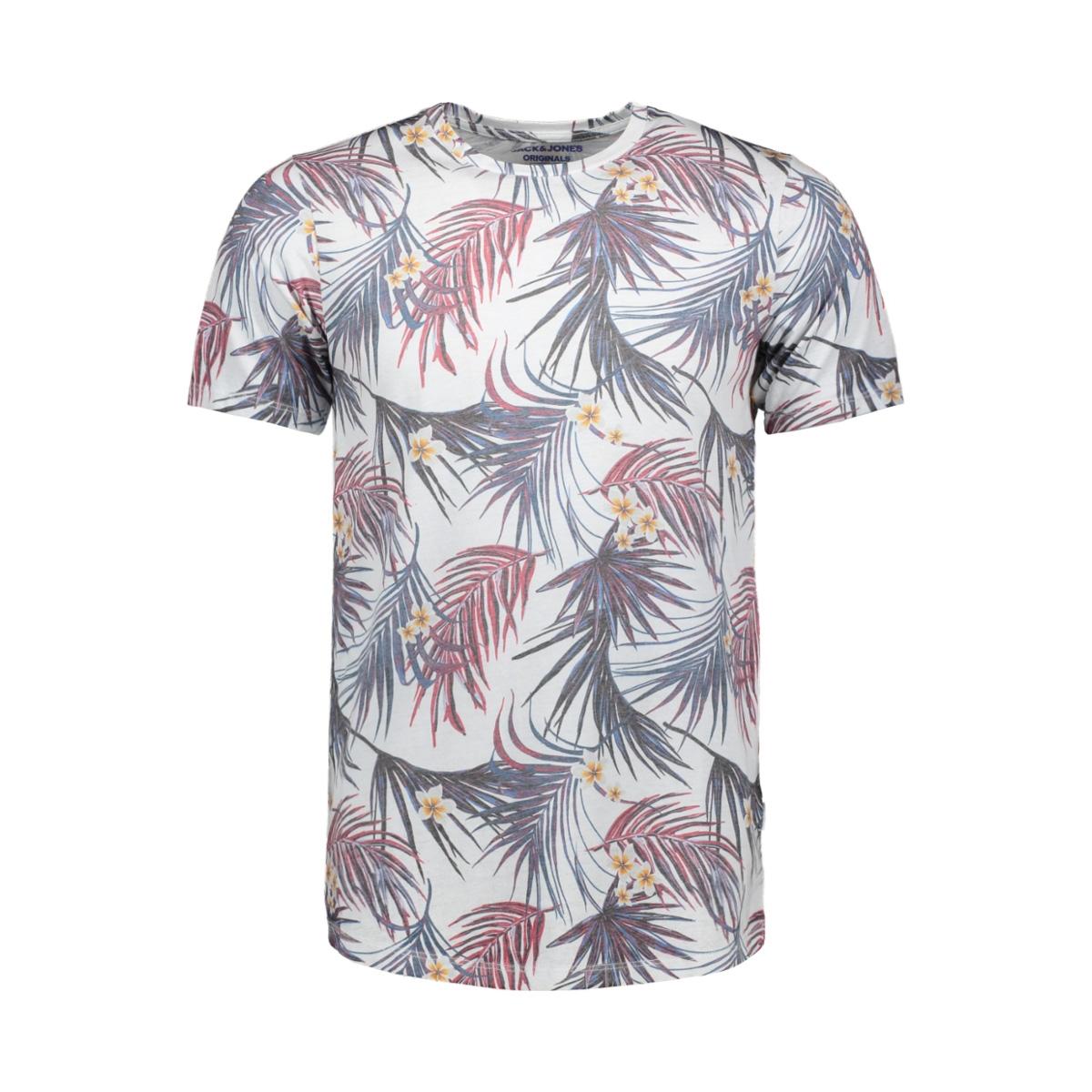 jorzeq tee ss crew neck 12155556 jack & jones t-shirt cloud dancer/slim
