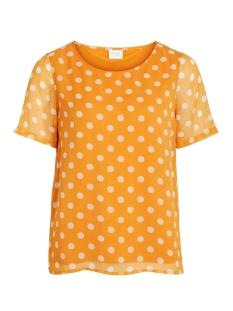 vienna s/s top 14054647 vila t-shirt golden oak/cloud dancer