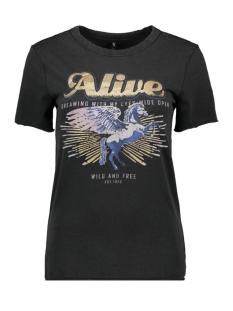 Only T-shirt ONLLUCY REG S/S PRINT BOX ACID CO J 15173711 Black/ALIVE1