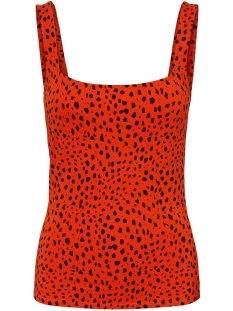 Noisy may Top NMRAWA TANK TOP 27008062 Tangerine Tango/BLACK