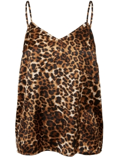 vmchristas satin cutline singlet sb 10222288 vero moda top birch/leo