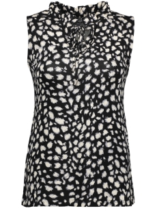 NED Top LIZZY SL BLACK SKETCH LEOPARD BLACK