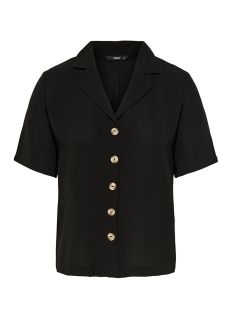 Only Blouse ONLNOVA LUX SOLID BUTTON TROUGH SHI 15180699 Black
