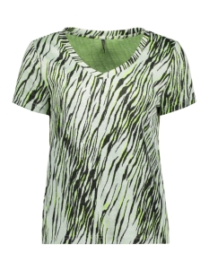 Only T-shirt ONLNADEEM S/S V-NECK TOP CS JRS 15197114 Bright White/ZEBRA GREEN