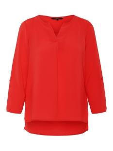 vmsasha 3/4 top color 10215422 vero moda blouse chinese red