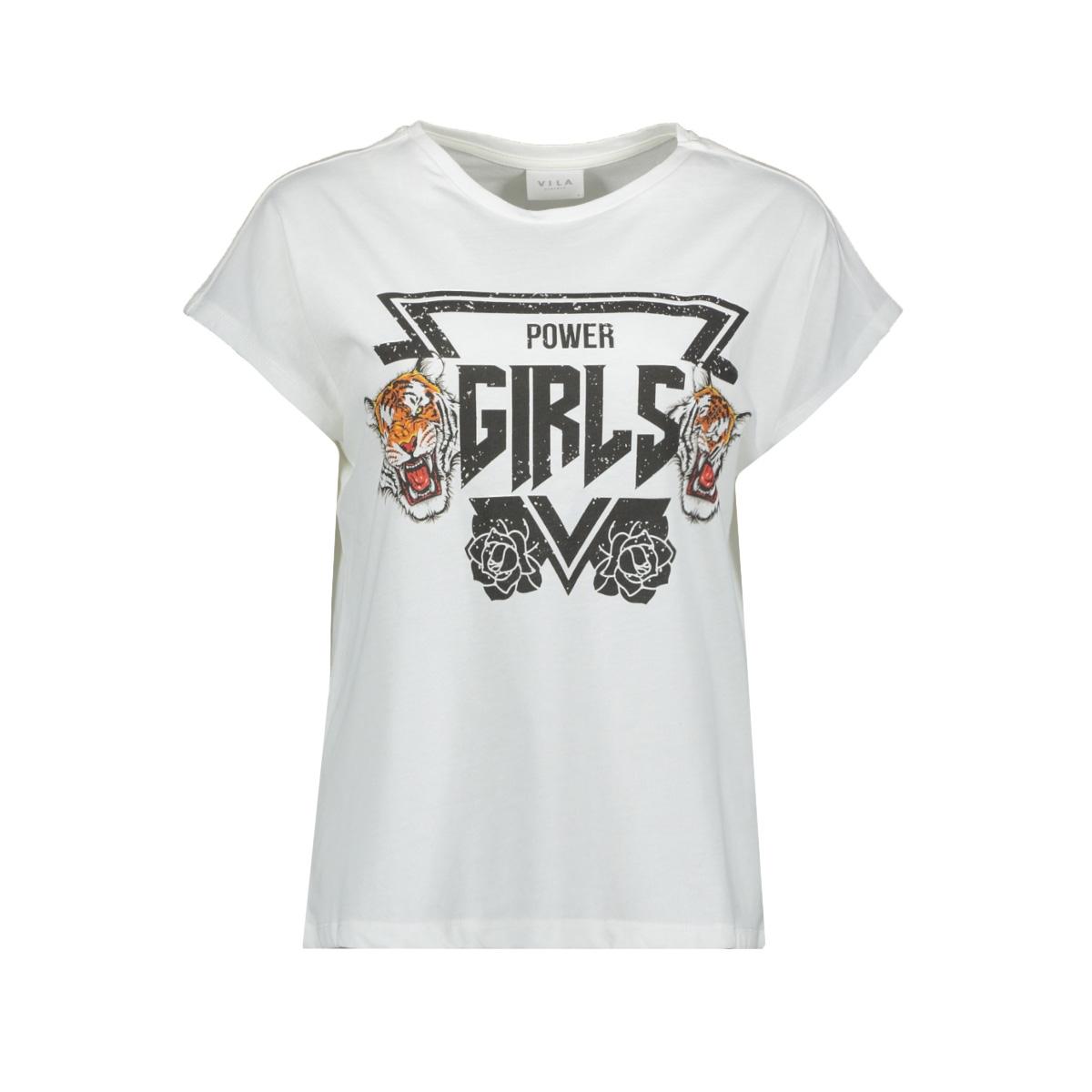 viculla t-shirt /rx 14056329 vila t-shirt cloud dancer/power girls