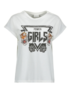 Vila T-shirt VICULLA T-SHIRT /RX 14056329 Cloud Dancer/POWER GIRLS