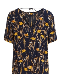 vialeta s/s top 14054999 vila t-shirt navy blazer/golden rod