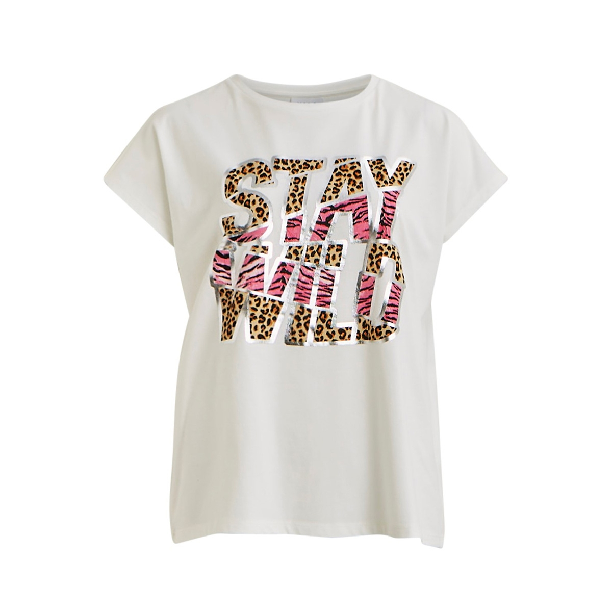vitta t-shirt /rx 14056334 vila t-shirt cloud dancer/stay wild
