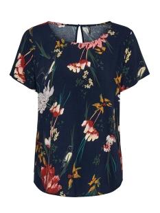 Only T-shirt ONLFIRST SS MIX AOP TOP  NOOS WVN 15138761 Night Sky/HANNA FLOWER