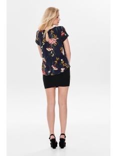 onlfirst ss mix aop top  noos wvn 15138761 only t-shirt night sky/hanna flower