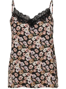 Jacqueline de Yong Top JDYAPPA TREATS LACE SINGLET WVN 15181111 Black/FALL FLOWER