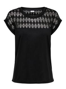 jdykimmie renee s/s lace top jrs ex 15193015 jacqueline de yong t-shirt black/dtm lace