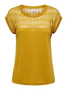 Jacqueline de Yong T-shirt JDYKIMMIE RENEE S/S LACE TOP JRS EX 15193015 Harvest Gold/DTM LACE