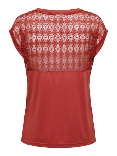 jdykimmie renee s/s lace top jrs ex 15193015 jacqueline de yong t-shirt tandori spice/dtm lace