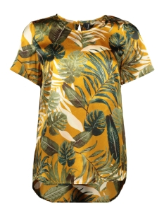 Vero Moda T-shirt VMLEAVES S/S TOP EXP 10226456 Thai Curry/LEAVES