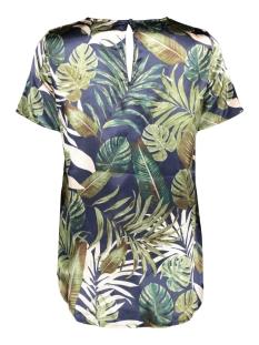 vmleaves s/s top exp 10226456 vero moda t-shirt night sky/leaves