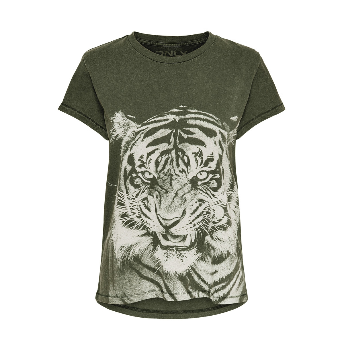 onlneat ss o-neck tiger dnm tee 15181937 only t-shirt forest night