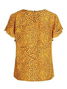 vilucy s/s flounce top - fav lux 14049944 vila t-shirt goldenrod/caramel