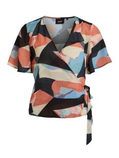 objalfi s/s top a pa 23031497 object t-shirt sky captain/marble print