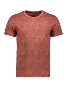 Jack & Jones T-shirt JPRLUKE AOP BLU TEE. SS CREW NECK 12161786 Burnt Henna/SLIM FIT