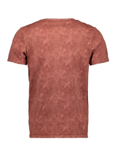 jprluke aop blu tee. ss crew neck 12161786 jack & jones t-shirt burnt henna/slim fit