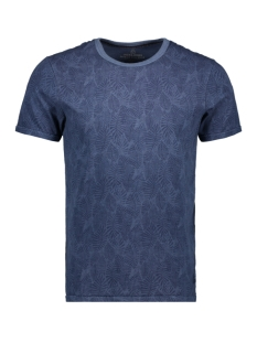 Jack & Jones T-shirt JPRLUKE AOP BLU TEE. SS CREW NECK 12161786 Ensign Blue/SLIM FIT