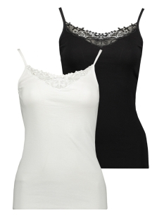 onlkira lace singlet 2 pack noos 15139316 only top black/black and