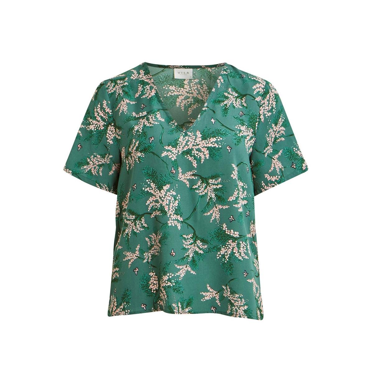 vimulta s/s top /rx 14056015 vila t-shirt bayberry/flowers aop