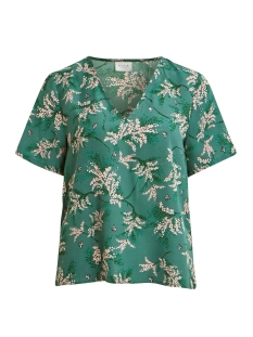 Vila T-shirt VIMULTA S/S TOP /RX 14056015 Bayberry/FLOWERS AOP
