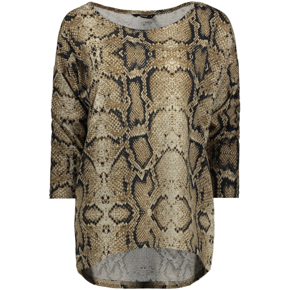 onlelcos 4/5 aop top jrs noos 15144286 only t-shirt black/snake aw19