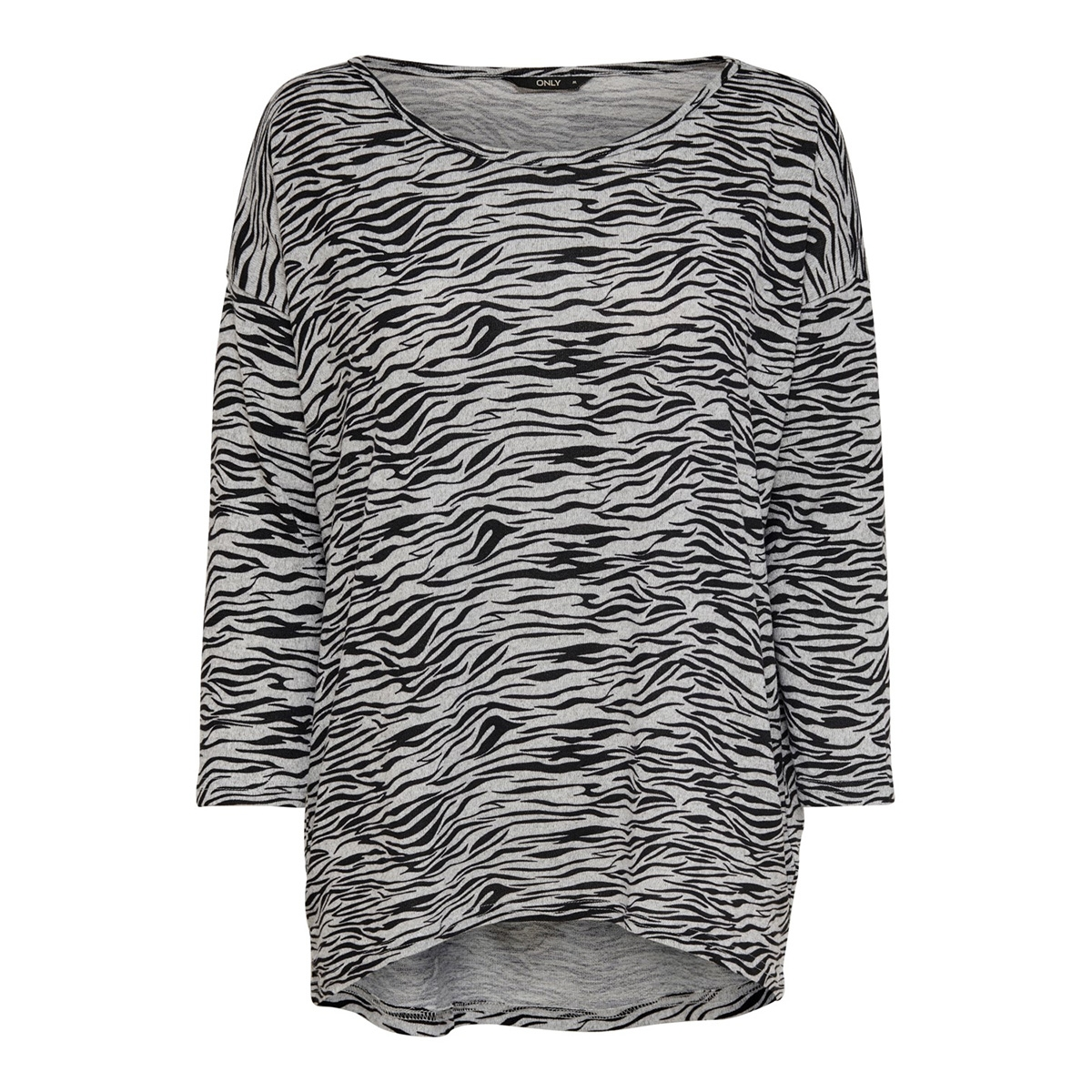 onlelcos 4/5 aop top jrs noos 15144286 only trui light grey mela/zebra