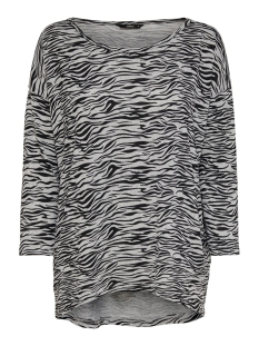 Only Trui ONLELCOS 4/5 AOP TOP JRS NOOS 15144286 Light Grey Mela/ZEBRA
