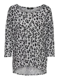 Only T-shirt ONLELCOS 4/5 AOP TOP JRS NOOS 15144286 Light Grey Mela/LUCIA aop