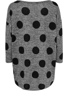 onlelcos 4/5 aop top jrs noos 15144286 only trui dark grey melan/big dots