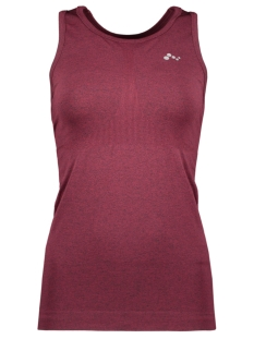 Only Play Sport top ONPJADA CIRCULAR SL TOP 15175561 Beet Red/W. MELANGE