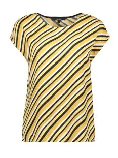 Vero Moda T-shirt VMRONJA S/L TOP WVN GA 10219625 Amber Gold/RONJA