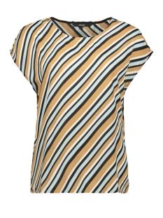vmronja s/l top wvn ga 10219625 vero moda t-shirt tobacco brown/ronja