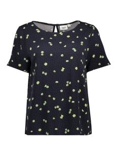 Saint Tropez T-shirt WOVEN TOP S/S U1013 9069 BL DEEP