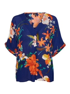 Vero Moda T-shirt VMAMSTERDAM S/S TOP VIP 10218212 Blue Depth