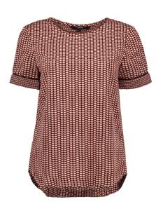 Vero Moda T-shirt VMARIEL SS TOP WVN 10215395 Mahogany/ARIEL